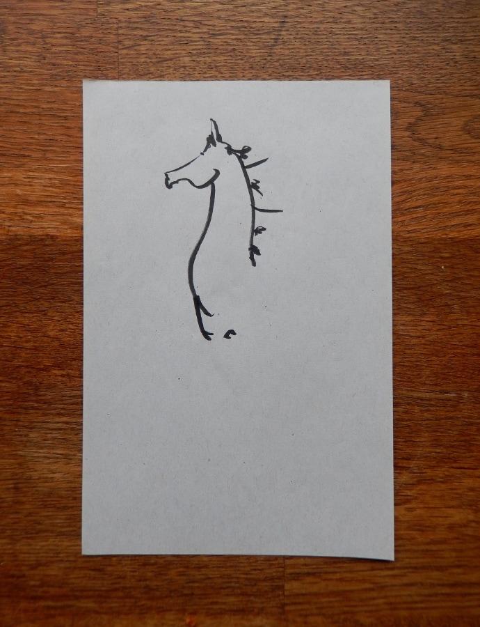Kladpaard I 2017 inkt