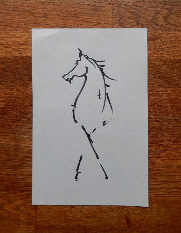 Kladpaard II 2017 inkt