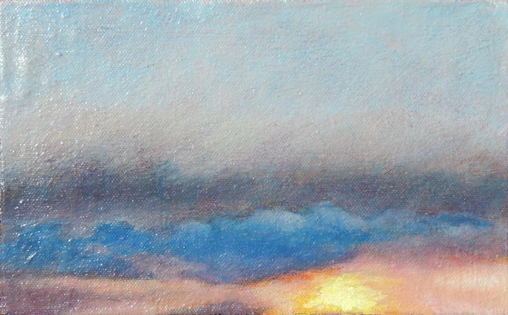 Lucht XI 2016 olie op blok