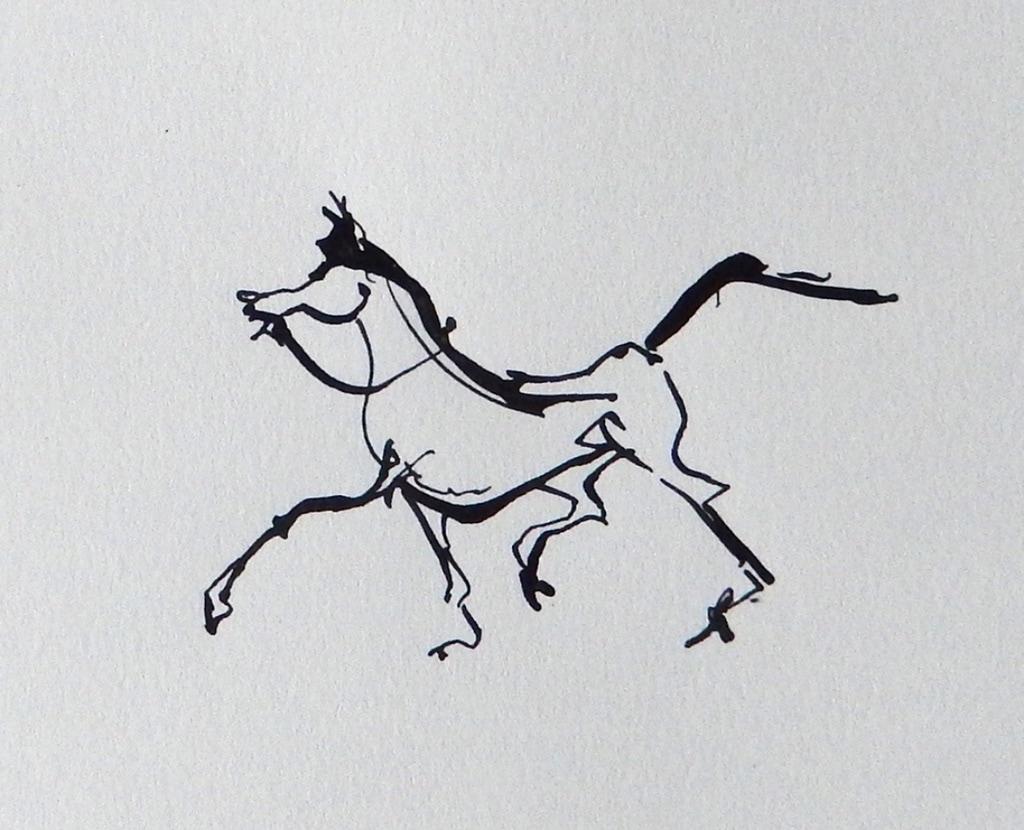 Mooi Paard I 2017 inkt