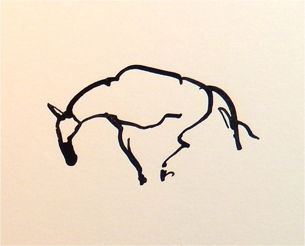 Neerzijgend Paard 1 2017 inkt