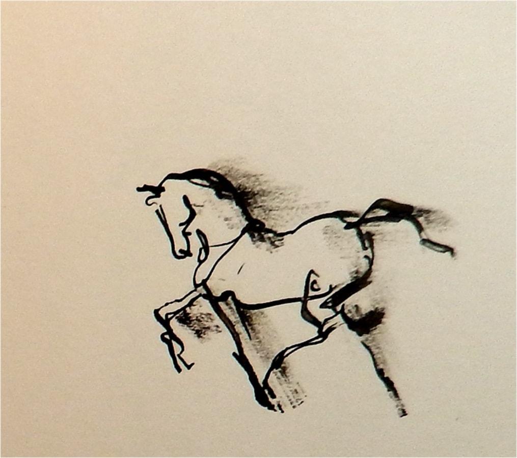 Paard 10 2017 inkt