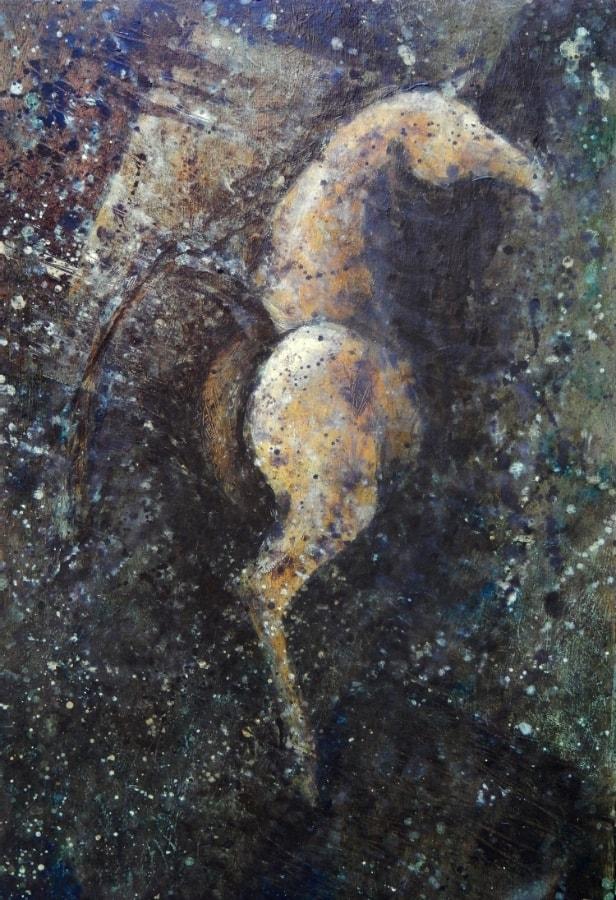 Paard 2017 30 x 48 cm olie op paneel