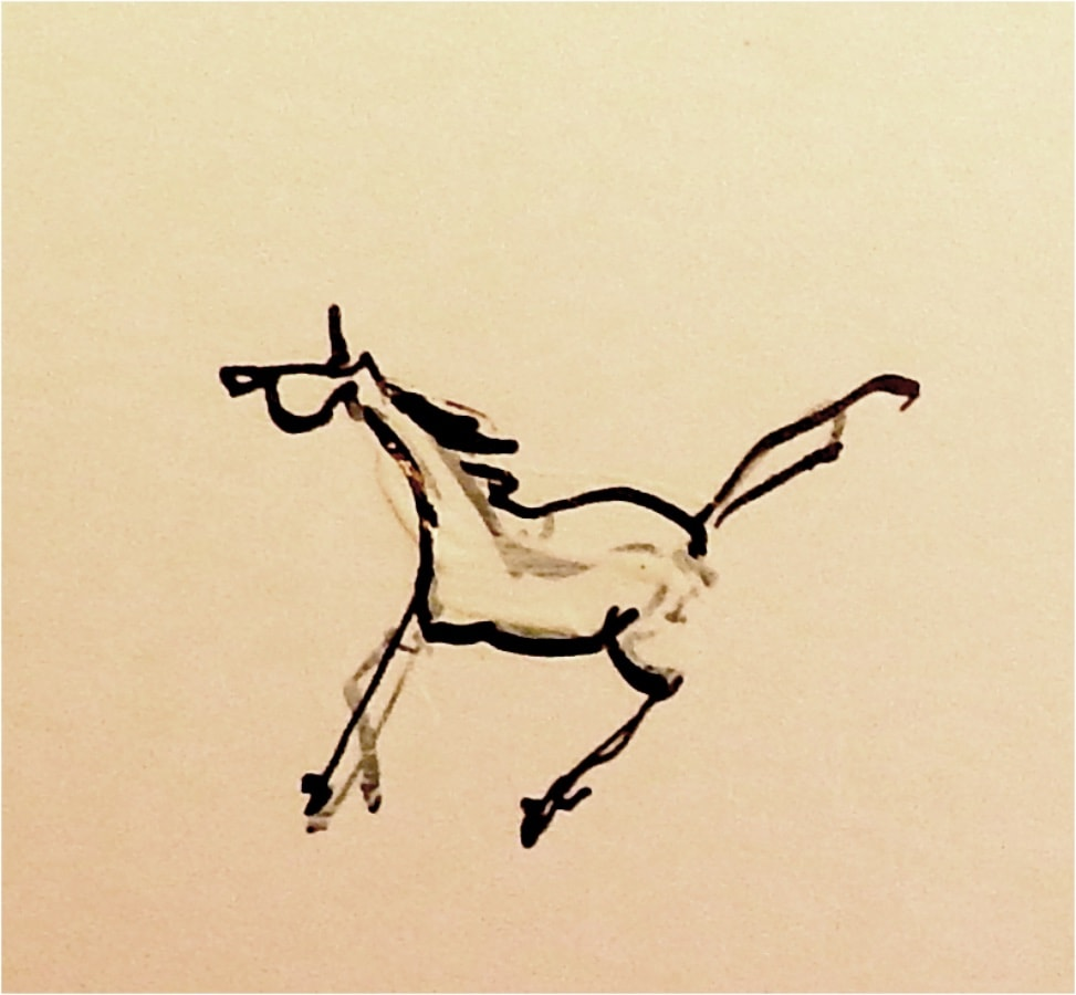 Paard 4 2017 inkt