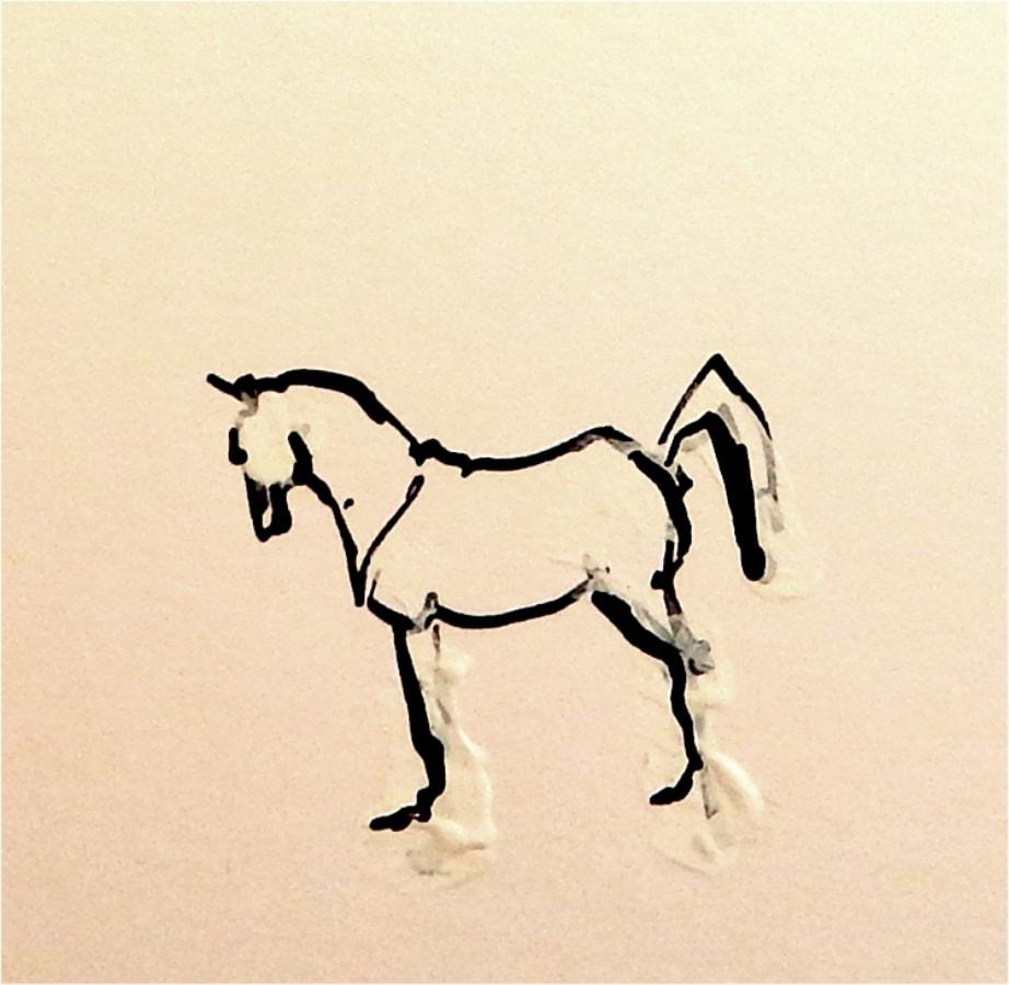 Paard 6 2017 inkt