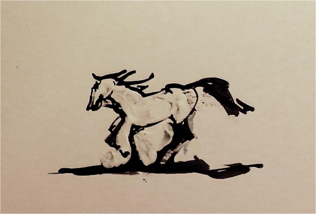 Paard 8 2017 inkt
