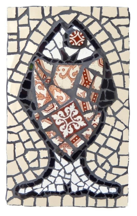 Viswijffie 2017 17 x 28 cm mozaiek